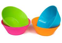 52Oz Large Cereal Bowls, Big Salad Bowls, Set of 8Plastic Bowls in 4Assorted