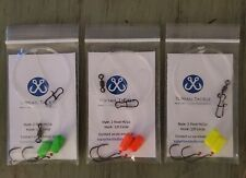 3 Pack Hand Tied Size 1/0 Circle Hook Surf Fishing Rigs- Pompano, Whiting, Etc.