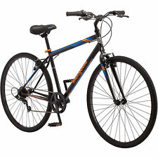 Mongoose Fitness Bike Men 700C Black Hybrid Commuter Sport City Bicycle New!