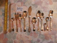 VINTAGE EPNS & NICKEL SILVER STAINLESS CHROME PLATE CUTLERY SPOONS KNIVES FORKS