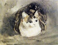 The Cat by Welsh Painter Gwen John. Animals Repro choose Canvas or Paper