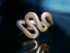 Toller 925 Silber Ring Wellen Gewellt Tolles Design Modern Elegant Vintage Retro