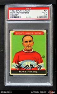 1933 Goudey Sport Kings #24 Howie Morenz  Canadiens PSA 3.5 - VG+