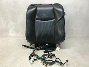 11-13 INFINITI M37 FRONT LEFT UPPER SEAT CUSHION HEATED COOLED BLACK LOT3116
