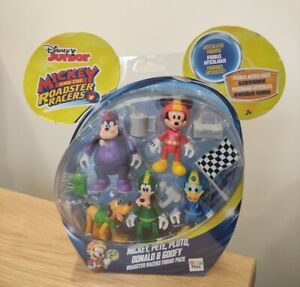 Disney Mickey The Roadster Racers Mickey Pete Pluto Donald Goofy 5x Figure Set