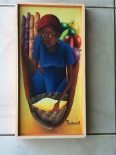 HAITIAN OIL PAINTING ON CANVAS SIGNED RICHARD FINE ART FRAMED