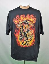 SOA Sons of Anarchy Samcro Grim Reaper Graphic Short Sleeve T-shirt Mens Sz 2XL