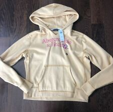 NWT Abercrombie & Fitch Light Yellow Hoodie XS
