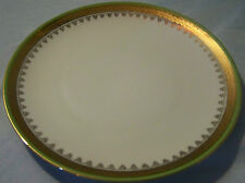 Weimar Gold with Green Trim Luncheon Plate Western Germany 8""