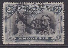 Rhodesia BSAC 1910-13 2d black & slate p15 sg171b used