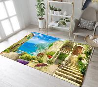 Italian Seaside Architecture Living Room Kids Carpet Floor Mat Home Area Rugs