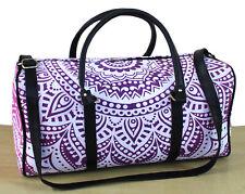 Indian Pink Ombre Mandala Handbag Unisex Travel Bags Sports Gym Bag Cotton Throw