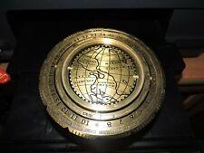 Nautical Navigators Brass (3 Legs) World Map & Calendar