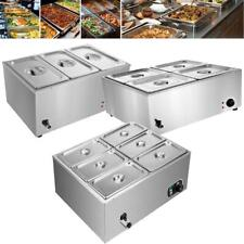 Commercial Food Warmer Bain Marie Steam Table Countertop 3 6 Pots Soup Station