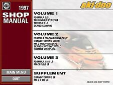 1997 Ski-Doo SkiDoo SKANDIC 380 500 WT LC SWT  MX Z 440 Shop Repair Manual 97 CD
