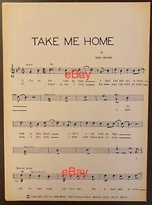 Take Me Home '71 WORK COPY Sheet Music Sign to U Mark Lindsay Revere Raider