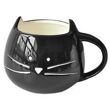 5x(coffee Cup Cat Animal Milk Ceramic Lovers Mug Cute Birthday Christmas Gift HY Black