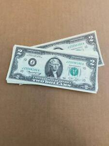 1976 $2 FRN Kansas City District 21 consecutive Gem Uncirculated notes nice