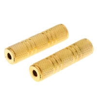 2pcs Gold Plated 3.5mm Female to Female Stereo Jack Adapter Audio Coupler