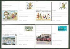Stationery An18 Postcard Germany 1994-1997 Philately Costumes (4 pcs) Below face