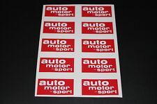 Auto Motor und Sport AMS Rally Retro Sponsor Aufkleber Sticker Decal Kleber Logo