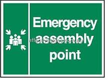 Emergency Assembly Point Sign Safety Signs Australian Made Quality Printed Sign