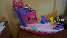 Disney Mickey Minnie Mouse Bowtique Boat Ship Vacation At Sea Playset Yacht USED