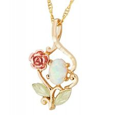 Landstrom's® 10K Black Hills Gold Pendant with Rose and Opal