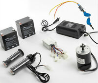 150W Electric Motor kit w Control Box+Twist Throttle+Key Lock+Charger+Batteries