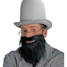 SCHWARZER VOLLBART # Karneval Geistlicher Rabbi Dandy Doktor Bart Kunstbart 1640