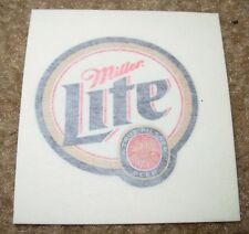 MILLER LITE Foil Logo pilsner STICKER decal craft beer brewery brewing