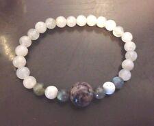 Custom Crystal Chakra Reiki Jewelry Bracelet Psychic Sister Charoite Labradorite