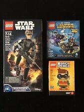 3 Sealed-in-Box Complete Lego Sets Lot - Dc Comics,Star Wars,Brick Headz