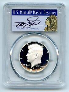 2021 S 50C Silver Kennedy Half Dollar PCGS PR70DCAM FS Cleveland Native