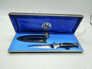VINTAGE RARE HATTORI BERETTA DAGGER STILETTO FIXED BLADE KNIFE W/ BOX SEKI JAPAN