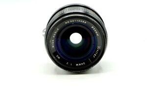 Vivitar 24mm f/2.0 Wide Angle Very Fast Nikon AI Manual Focus Lens