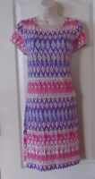 U-Knit Flip Flop Scoop Neck A-Line Dress AZTEC PINK Women's Sz S -L NWT MSRP$62