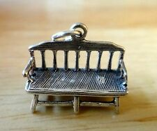 Sterling Silver 3D 13x18x7mm Detailed Park Bench Furniture Charm