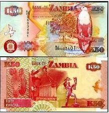 ZAMBIA 50 KAWCHA UNC  # 40