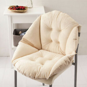 Foam Surrounded Cushion Shell Shape Warm Seat Sofa Pillow Chair Pad-Beige