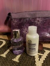 Body Shop White Musk 30ml EDT Perfume Set Includes Make Up Bag, 30ml Body Lotion