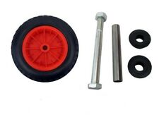 "14"" RED PU WHEELBARROW WHEEL / PUNCTURE PROOF / SOLID 3.50/3.00-8 + AXLE"