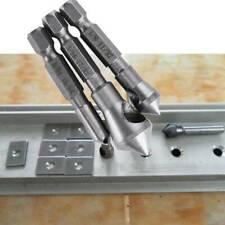 3pcs Titanium Countersink and Deburring Tool Set HSS for Cut Metal Wood