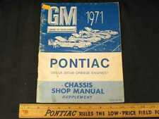 1971 Pontiac Chassis Supplement Shop Manual (CDN)