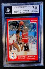 1985-86 STAR ALL ROOKIE TEAM MICHAEL JORDAN #2 - BGS 7.5 - NEAR MINT+