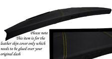 YELLOW STITCH FITS MINI CLASSIC ROVER COPPER AUSTIN DASH LEATHER COVER