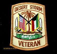 DESERT STORM VETERAN HAT PATCH US ARMY MARINES NAVY AIR FORCE MILITARY PIN UP