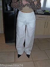excepcional pantalón largo blanco MC PLANET talla 42 NUEVO CON ETIQUETA