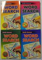 Brain Games Set Of 4 A5 Word Search Books (144 Puzzles Per Book) *BRAND NEW*