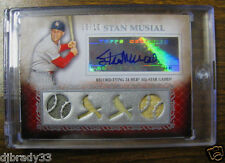 Stan Musial 2009 Topps Sterling  6/10  Autographed Quad Game Used Card 1/1